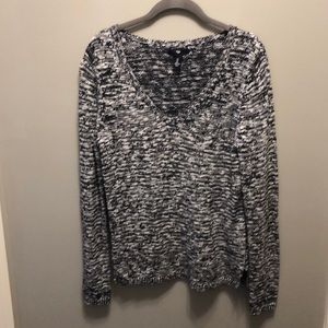 Gap Factory Navy Blue & White Marbled Sweater